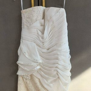 Phoebe couture cream dress w lace